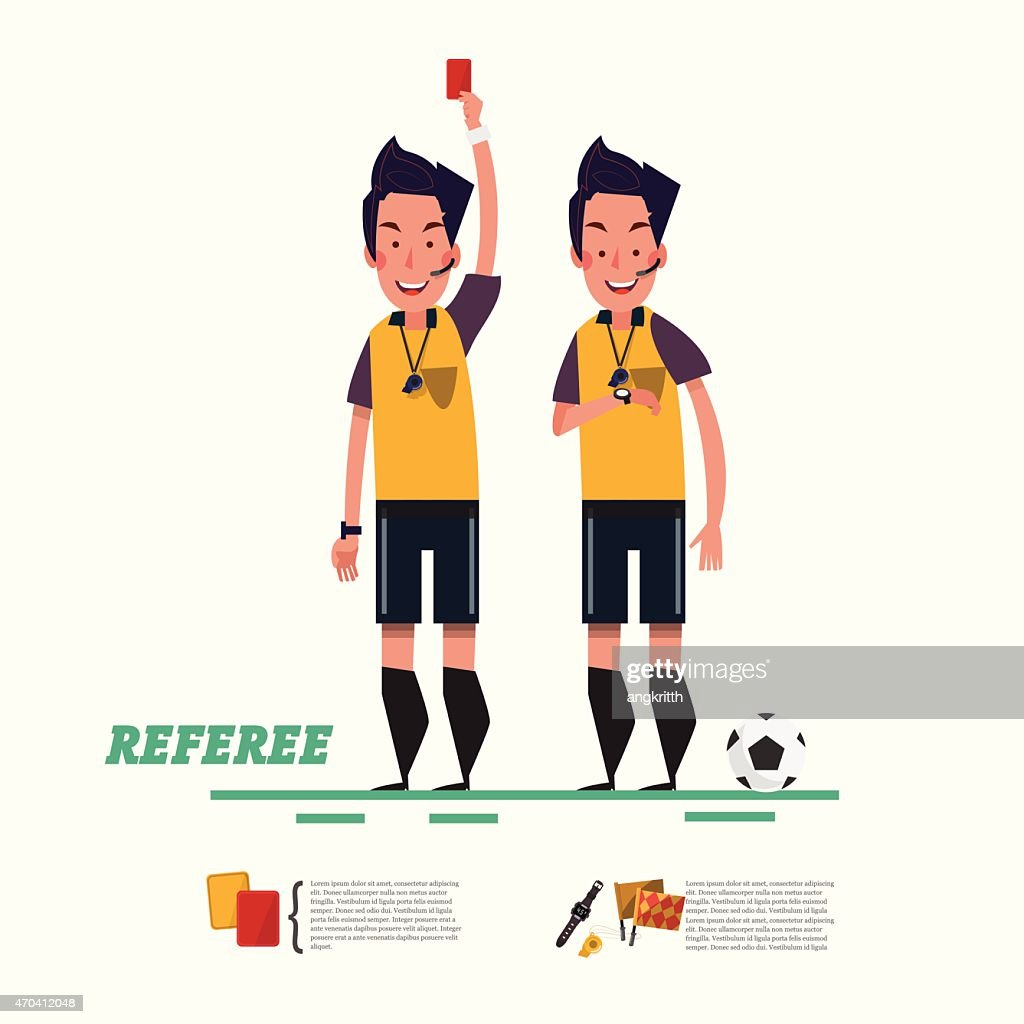 soccer referee character. referree - vector illustration