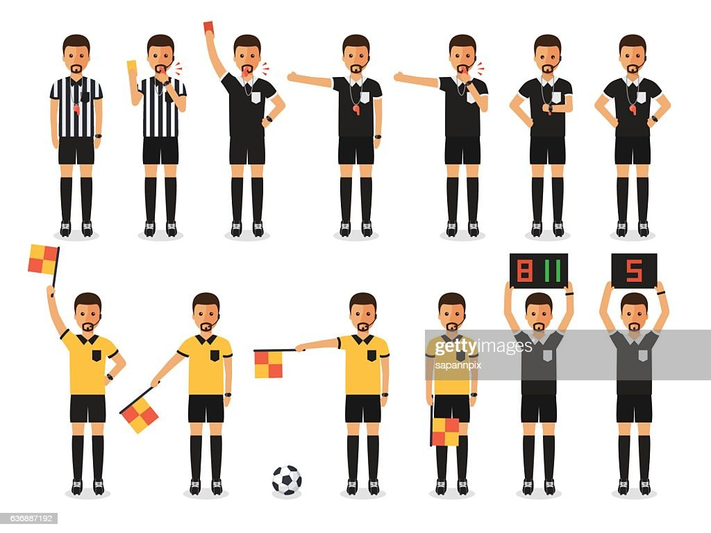 Soccer referee character set