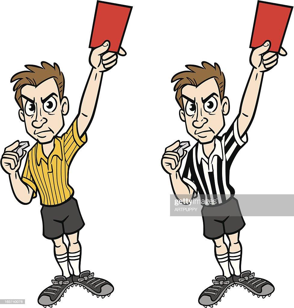 Soccer Referee : stock illustration