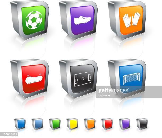 ilustraciones, imágenes clip art, dibujos animados e iconos de stock de fútbol conjunto de iconos vectoriales sin royalties - guantes de portero