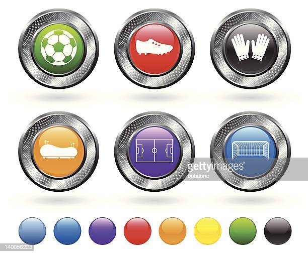 De futebol vector conjunto de ícones royalty free