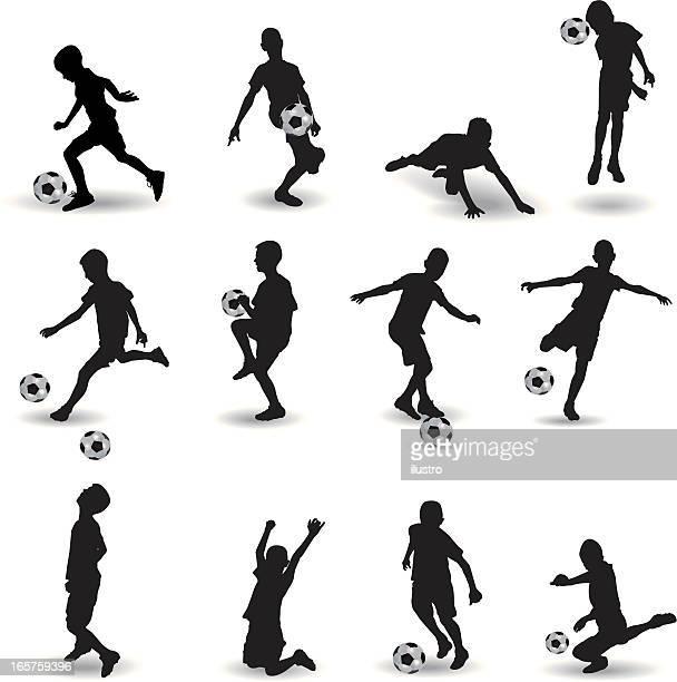 ilustraciones, imágenes clip art, dibujos animados e iconos de stock de escuela de fútbol - salto de longitud