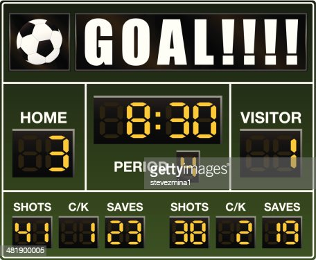 Soccer Scoreboard High-Res Vector Graphic - Getty Images