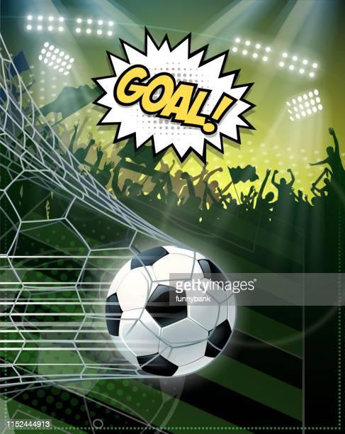 soccer scoring goal - soccer competition stock illustrations