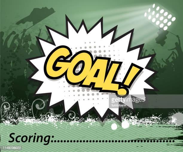 bildbanksillustrationer, clip art samt tecknat material och ikoner med fotboll scoring tid - poängräkning