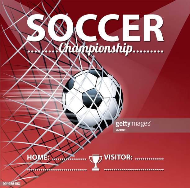 soccer scoring - soccer competition stock illustrations