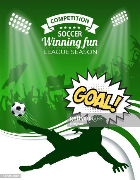 illustrations, cliparts, dessins animés et icônes de saison de soccer - compétition de football