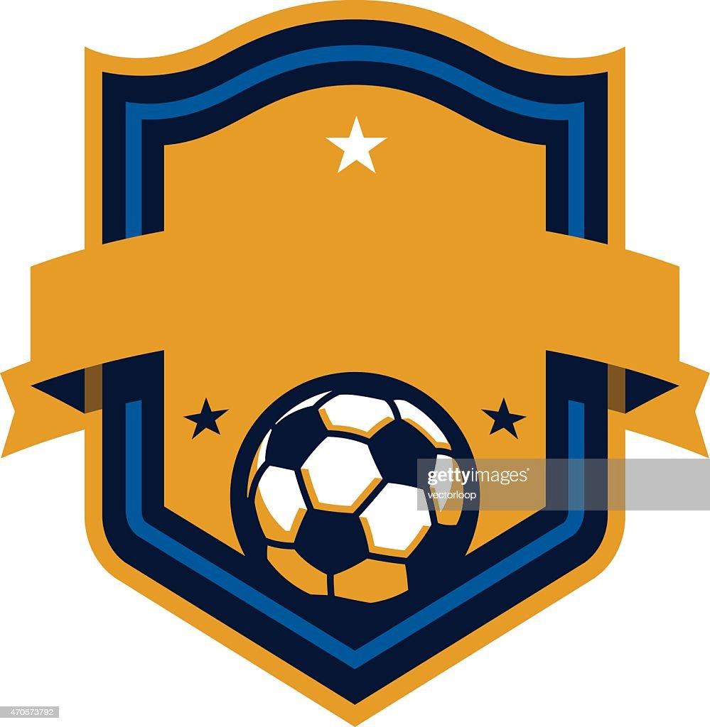 Soccer Shield : stock illustration