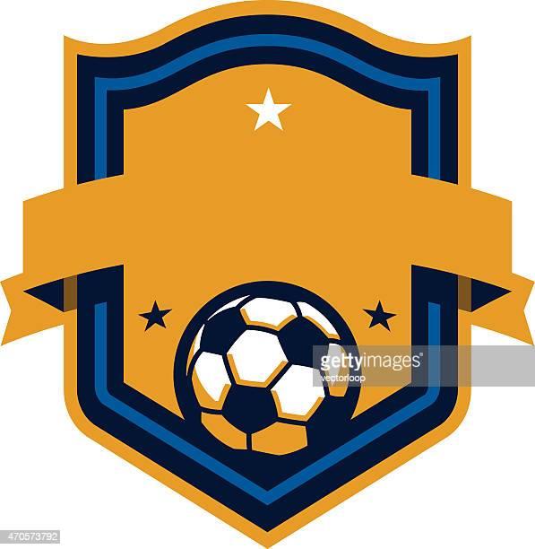 ilustrações, clipart, desenhos animados e ícones de futebol escudo - football