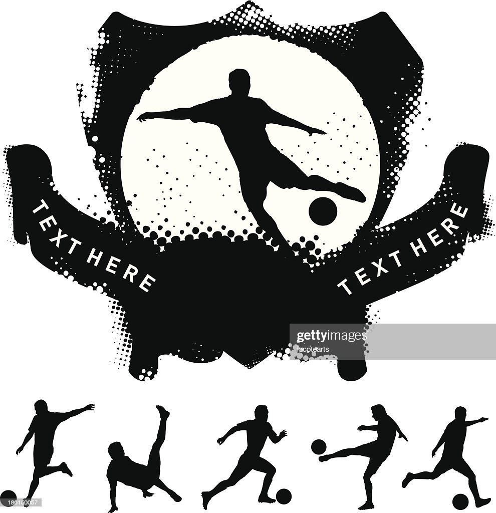 soccer shield with many players shooting the ball