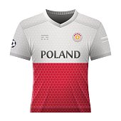 Soccer shirt in colors of polish flag