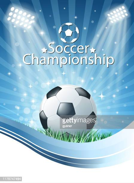 ilustrações, clipart, desenhos animados e ícones de sinal do futebol - torneio de futebol