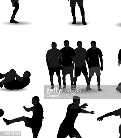 soccer silhouette vector art getty images