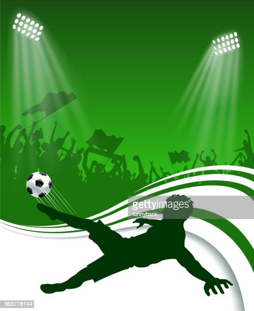 soccer silhouette - soccer competition stock illustrations
