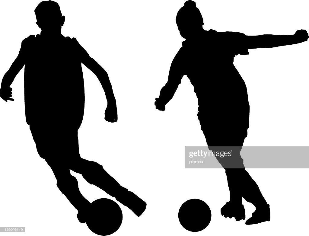Girl Soccer Silhouette Vector Soccer Silhouette Vect...