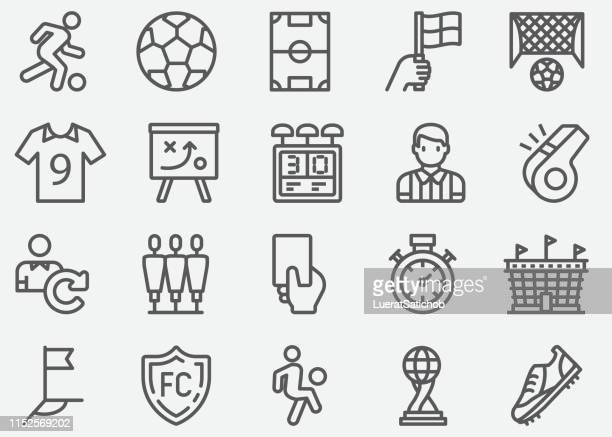 サッカースポーツラインアイコン - 球技場点のイラスト素材/クリップアート素材/マンガ素材/アイコン素材