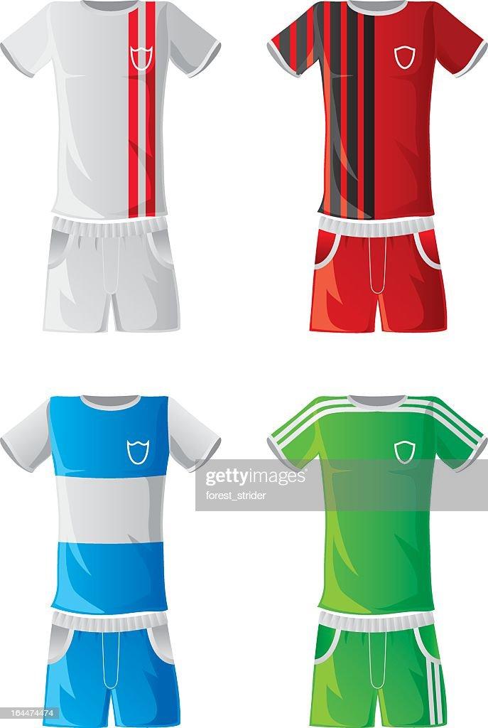Soccer sportswear : stock illustration