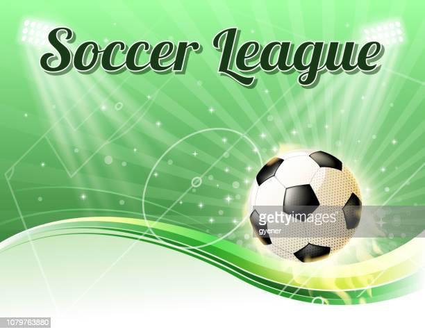 soccer spotlight - soccer league stock illustrations