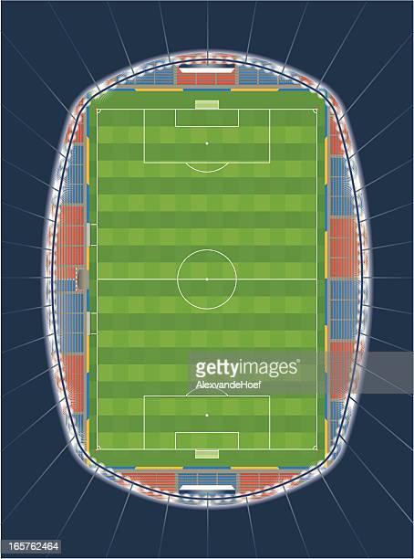 Fußballstadion Top View