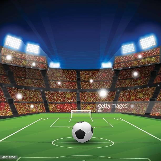 soccer stadium - football stock illustrations, clip art, cartoons, & icons