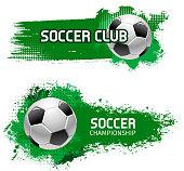 Soccer team club football ball vector icon