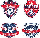 Soccer team or football club heraldic vector icon