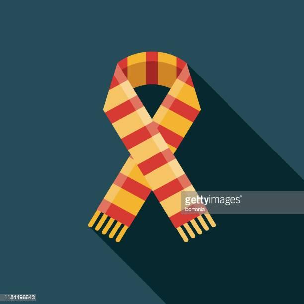 illustrazioni stock, clip art, cartoni animati e icone di tendenza di soccer team scarf icon - sciarpa