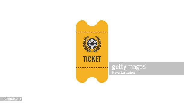 soccer ticket icon - entrance sign stock illustrations