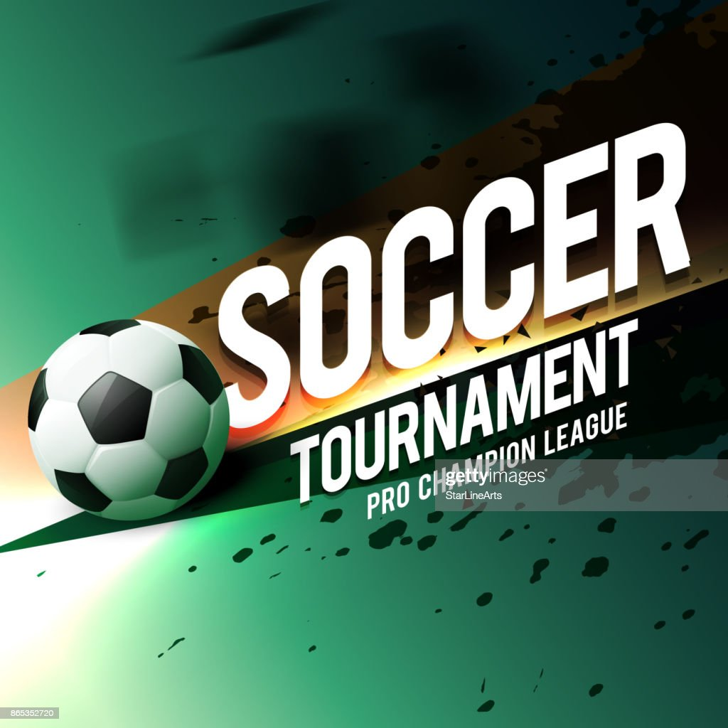 soccer tournament game poster flyer design