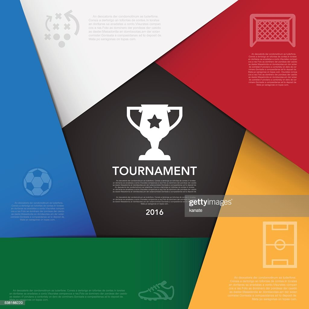 Soccer ( football ) tournament infographic background