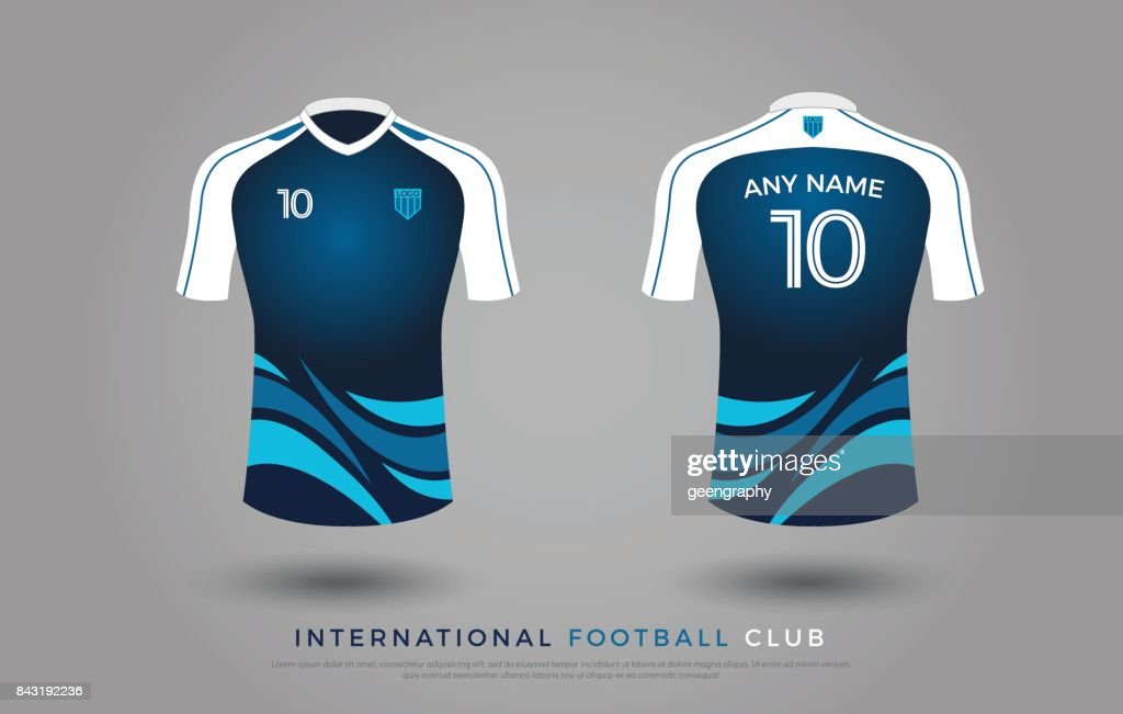 soccer tshirt design uniform set of soccer kit football jersey