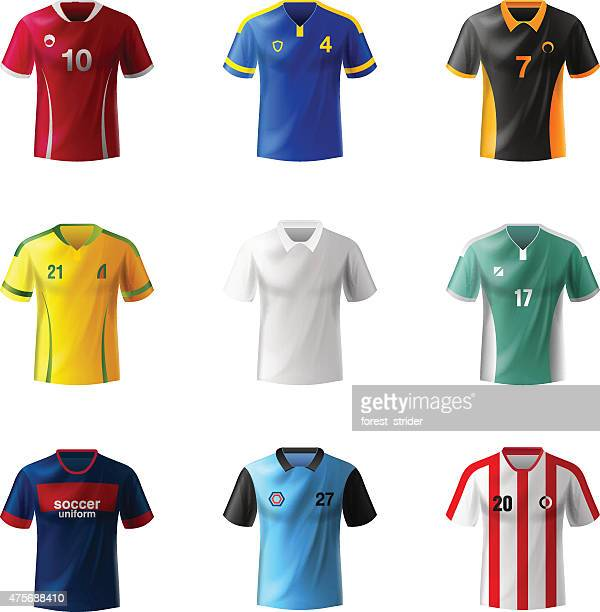 soccer uniform - shirt stock illustrations