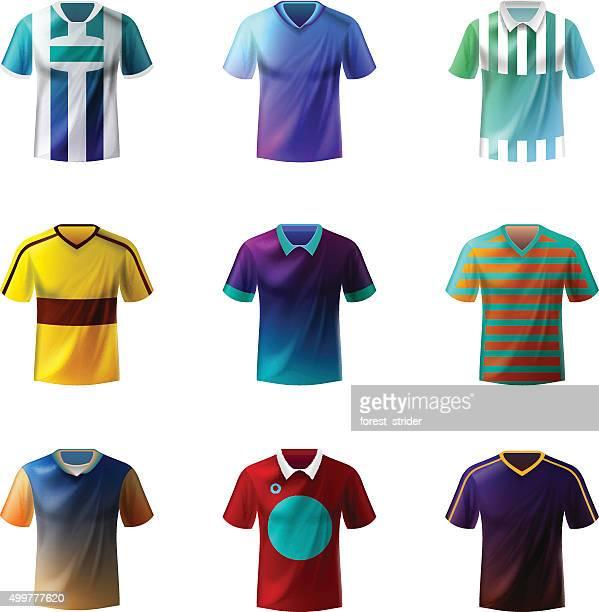 soccer uniform - sports jersey stock illustrations