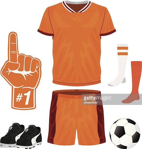 soccer uniform - football strip stock illustrations