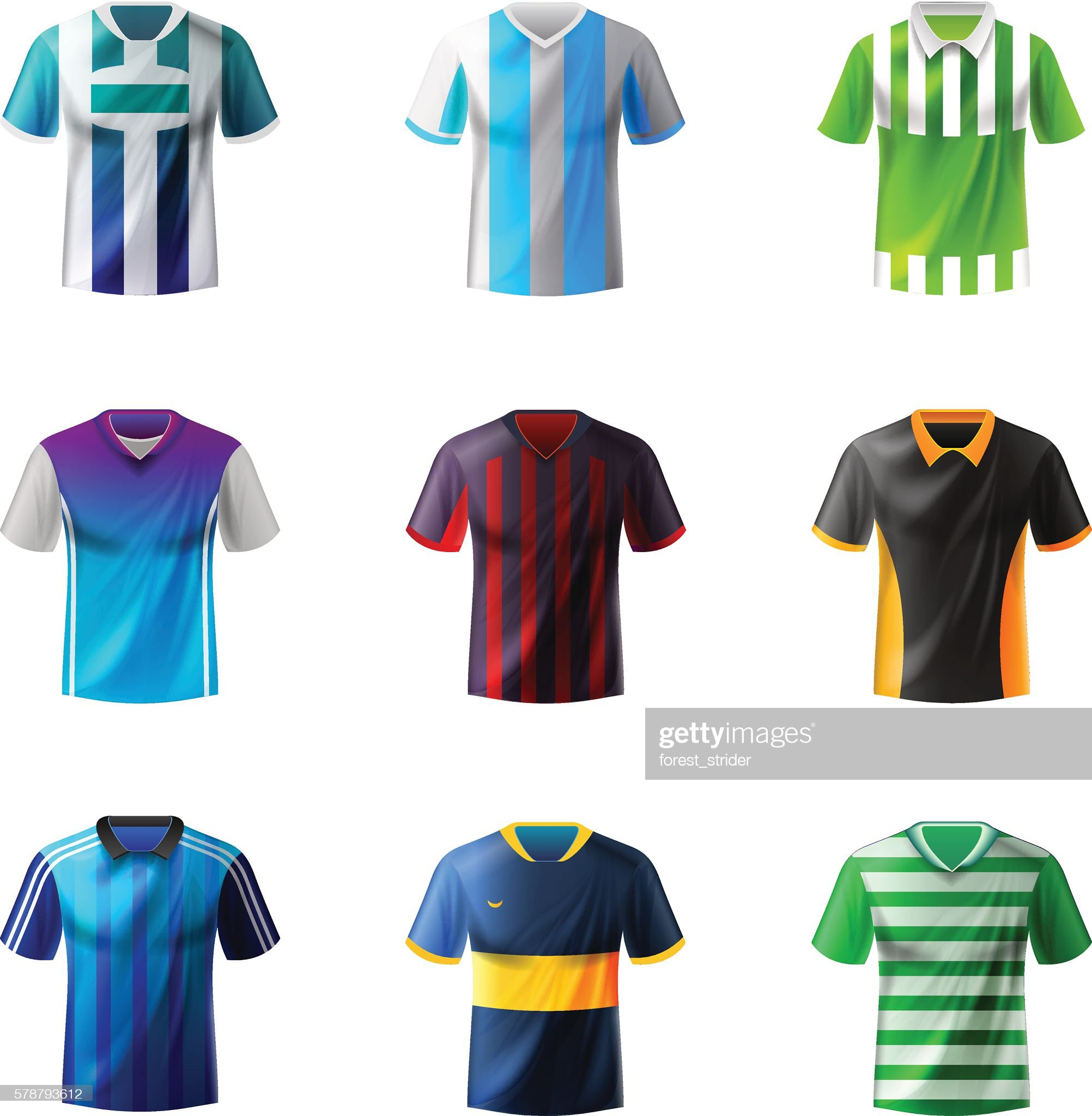 Soccer uniform : stock illustration