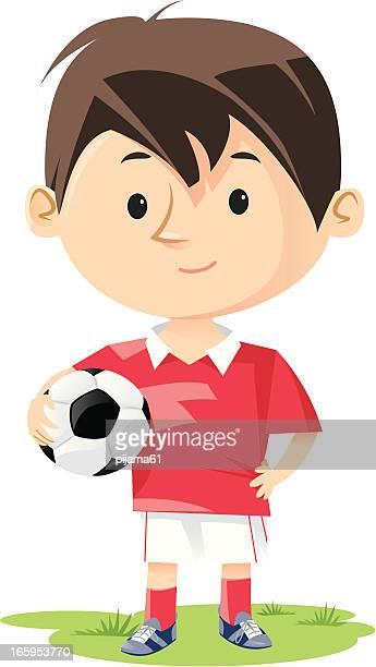 illustrations, cliparts, dessins animés et icônes de de football - jeunes garçons