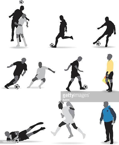 ilustraciones, imágenes clip art, dibujos animados e iconos de stock de de fútbol - salto de longitud