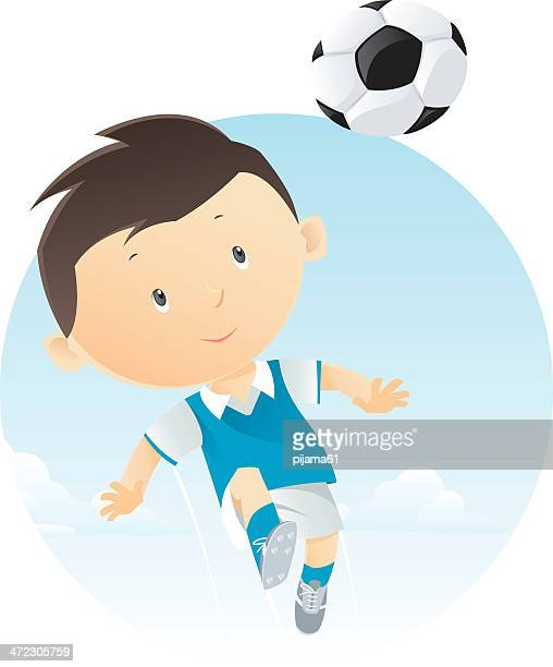 soccer - heading the ball stock illustrations