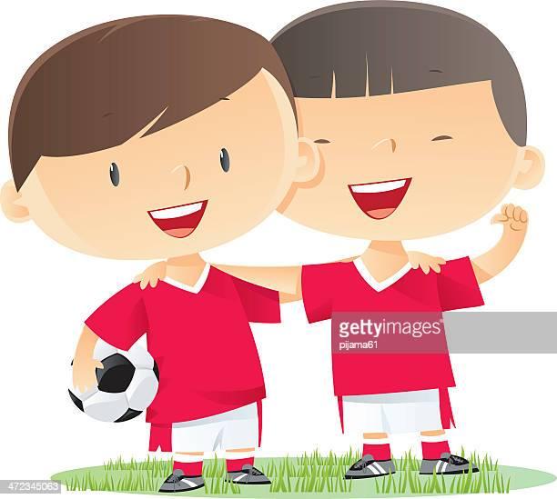 ilustrações de stock, clip art, desenhos animados e ícones de de futebol - futebol infantil