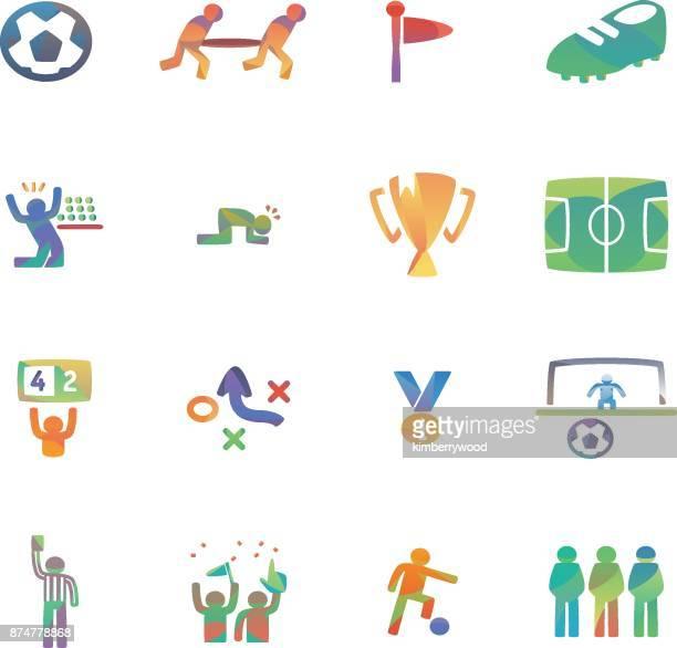 soccer - whistle blackboard stock illustrations