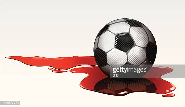 soccer violence - puddle stock illustrations, clip art, cartoons, & icons