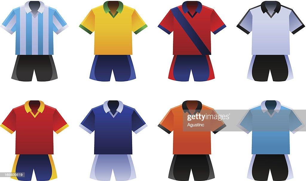 Soccer World Cup Uniforms : stock illustration