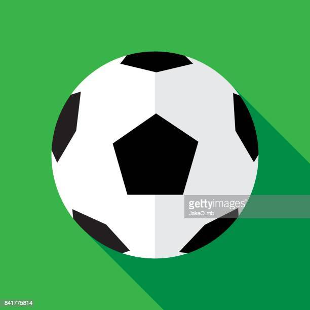 illustrazioni stock, clip art, cartoni animati e icone di tendenza di soccerball icon flat - palla sportiva