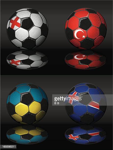 soccer-england,turkey,ukraine,iceland - sports organization stock illustrations, clip art, cartoons, & icons