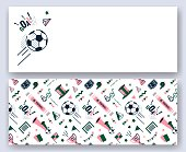 Soccer/football abstract banners