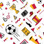 Soccer/football abstract seamless pattern