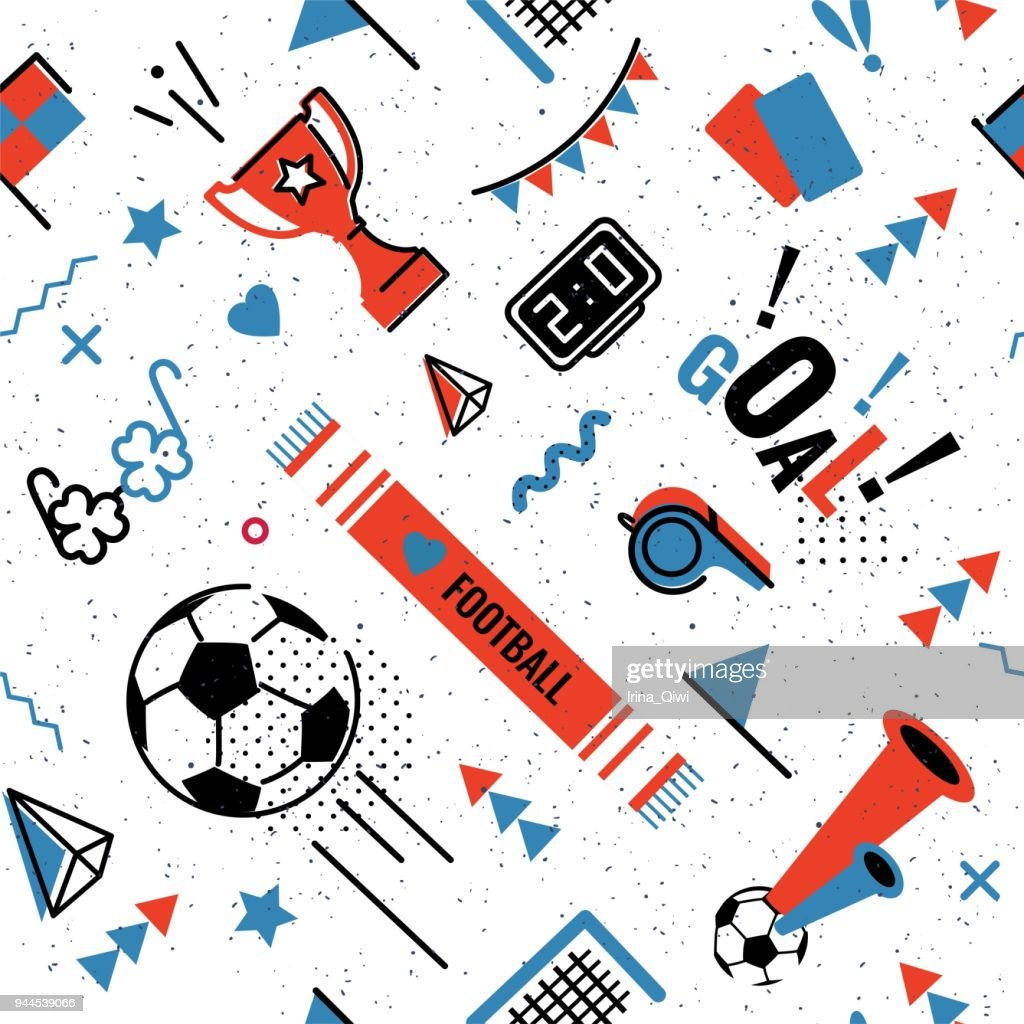 Soccer/football seamless pattern