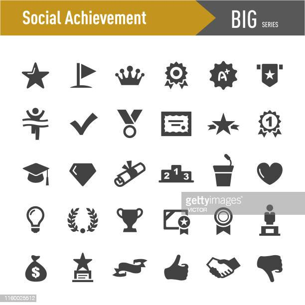 social achievement icons - big series - sport torch stock illustrations, clip art, cartoons, & icons