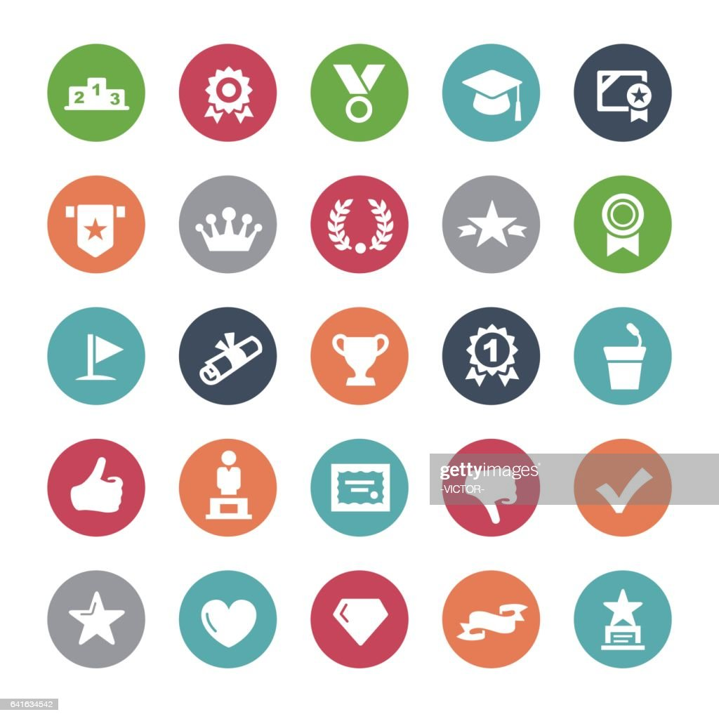 Social Achievement Icons - Bijou Series