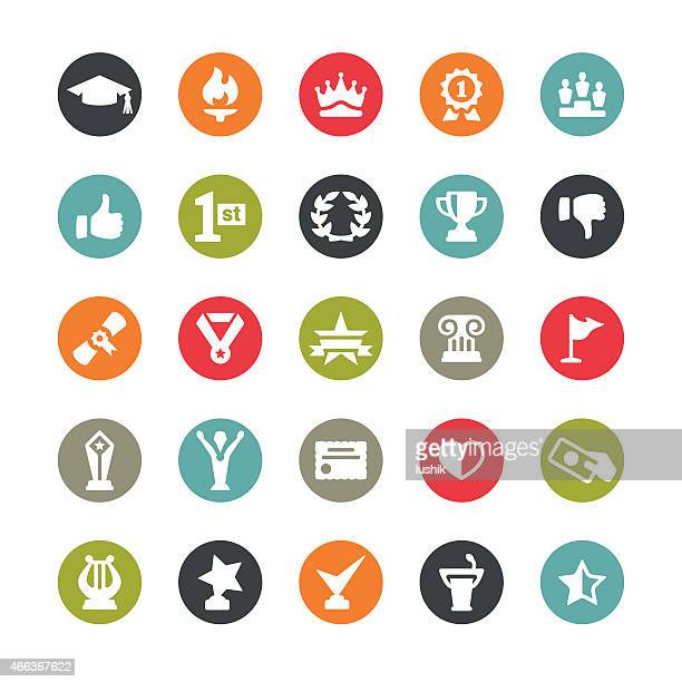 social achievement icons / ringico series - sport torch stock illustrations, clip art, cartoons, & icons